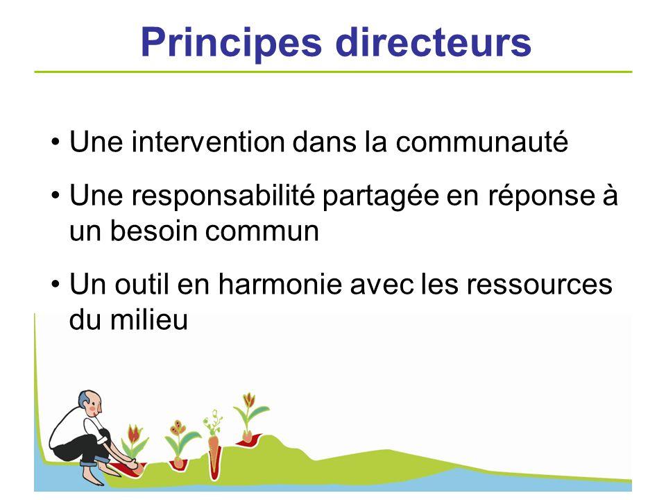 Principes directeurs Une intervention dans la communauté