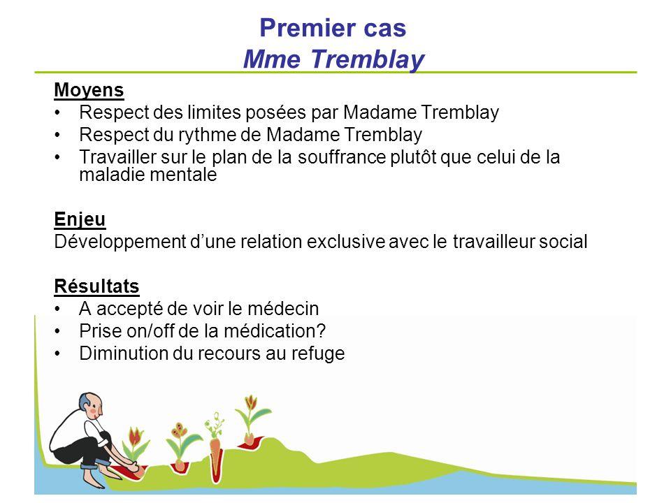 Premier cas Mme Tremblay