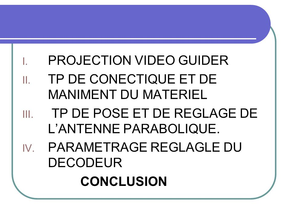 PROJECTION VIDEO GUIDER