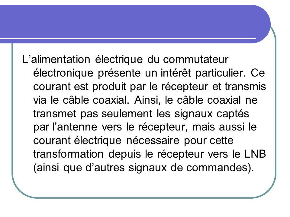 L'alimentation électrique du commutateur électronique présente un intérêt particulier.