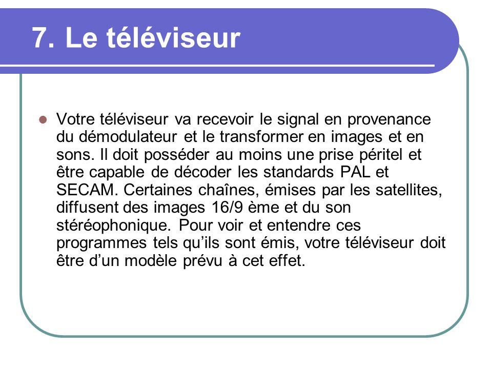 7. Le téléviseur