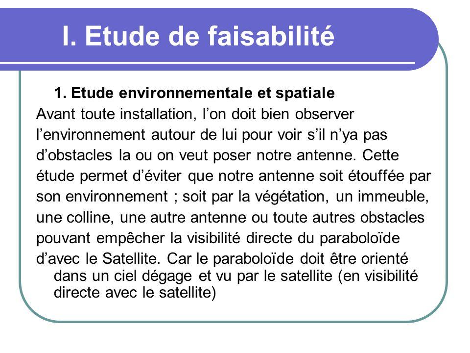 I. Etude de faisabilité 1. Etude environnementale et spatiale