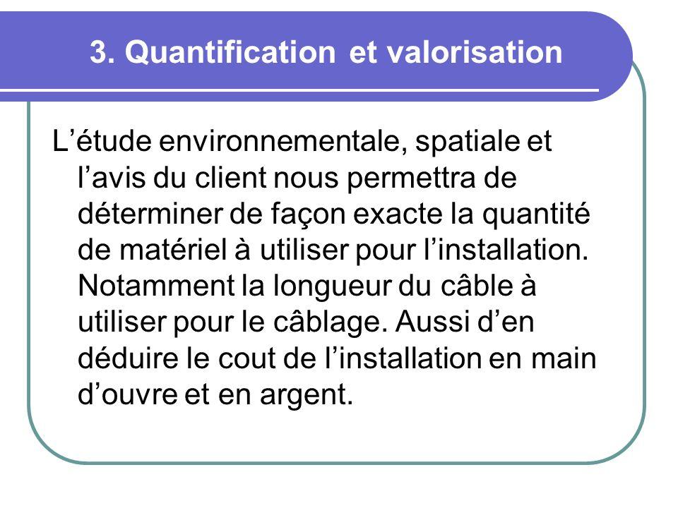 3. Quantification et valorisation