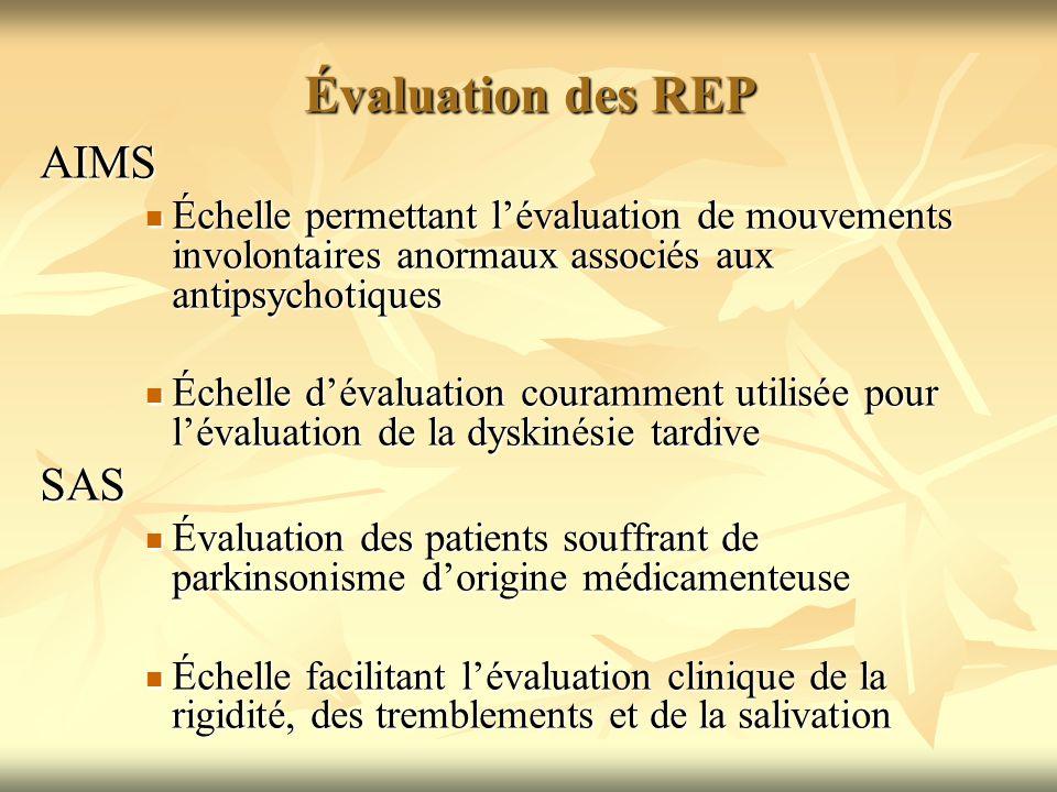Évaluation des REP AIMS SAS