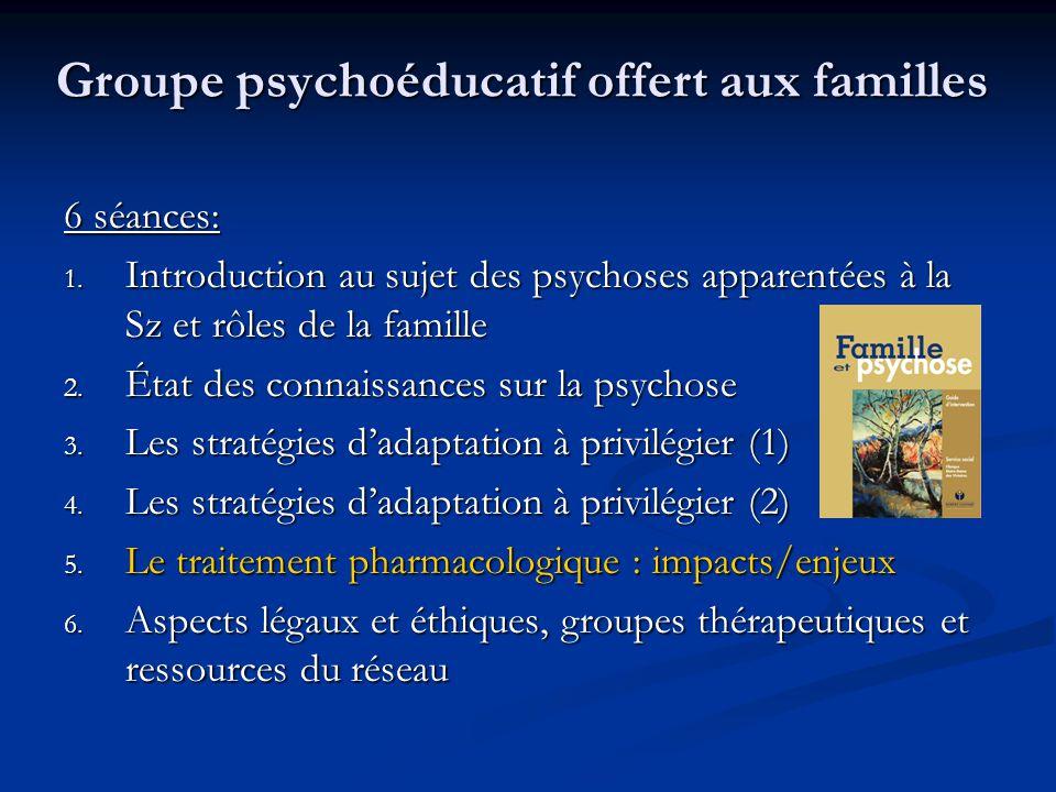 Groupe psychoéducatif offert aux familles