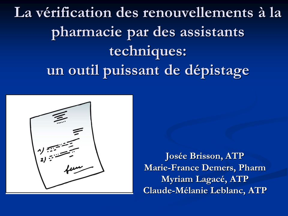 Marie-France Demers, Pharm Claude-Mélanie Leblanc, ATP