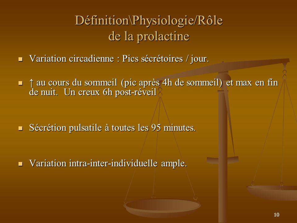 Définition\Physiologie/Rôle de la prolactine