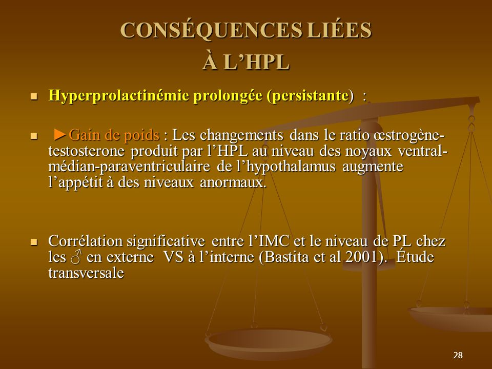 CONSÉQUENCES LIÉES À L'HPL