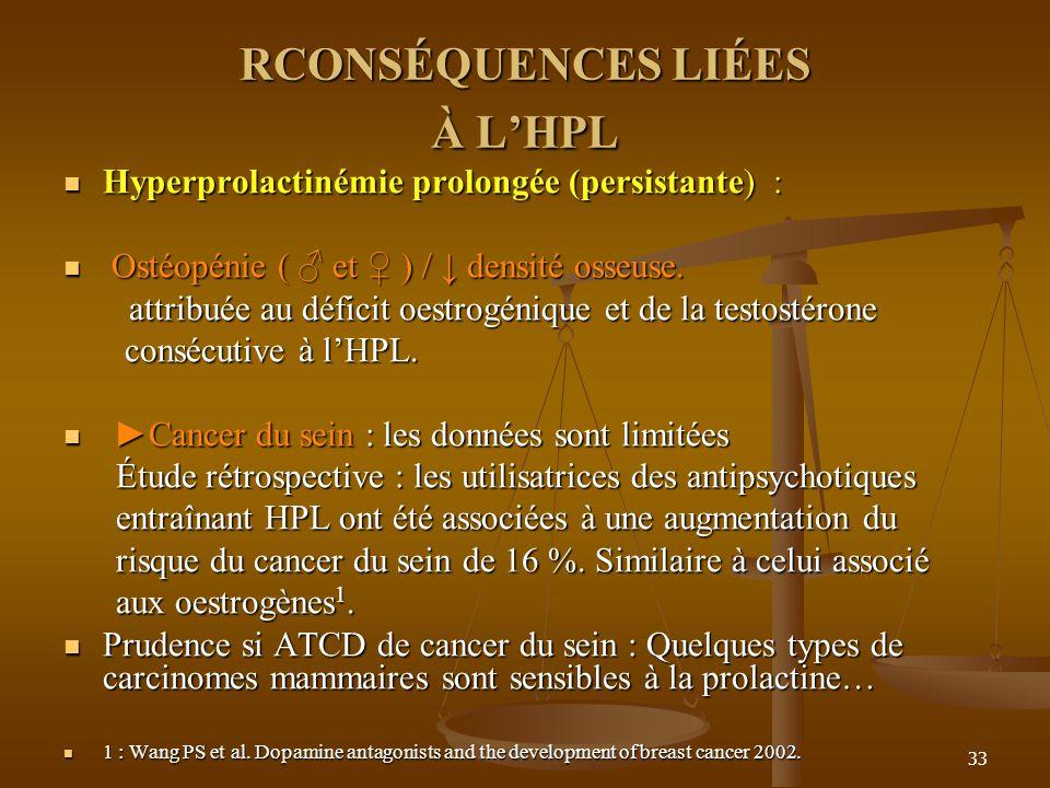 RCONSÉQUENCES LIÉES À L'HPL