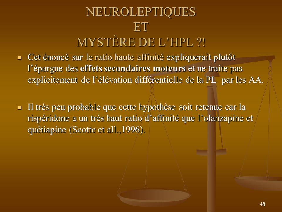 NEUROLEPTIQUES ET MYSTÈRE DE L'HPL !