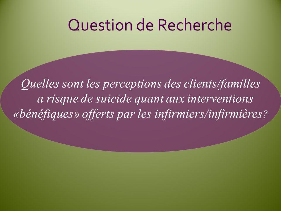 Quelles sont les perceptions des clients/familles