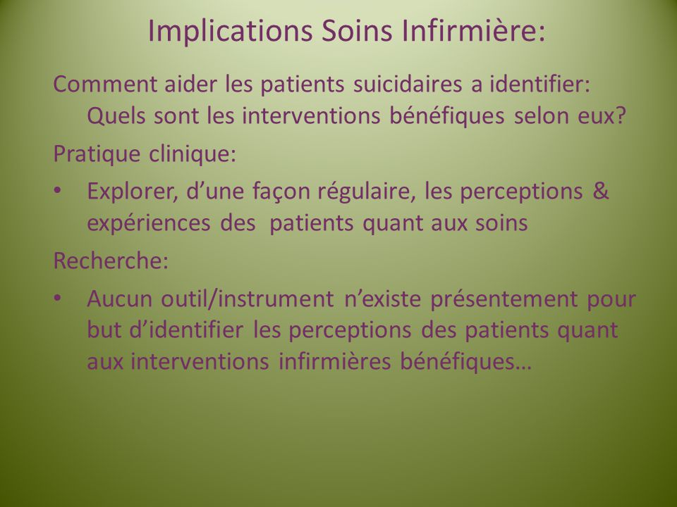 Implications Soins Infirmière: