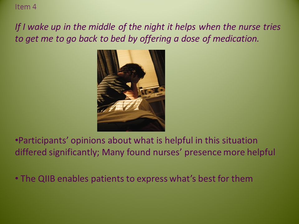 The QIIB enables patients to express what's best for them