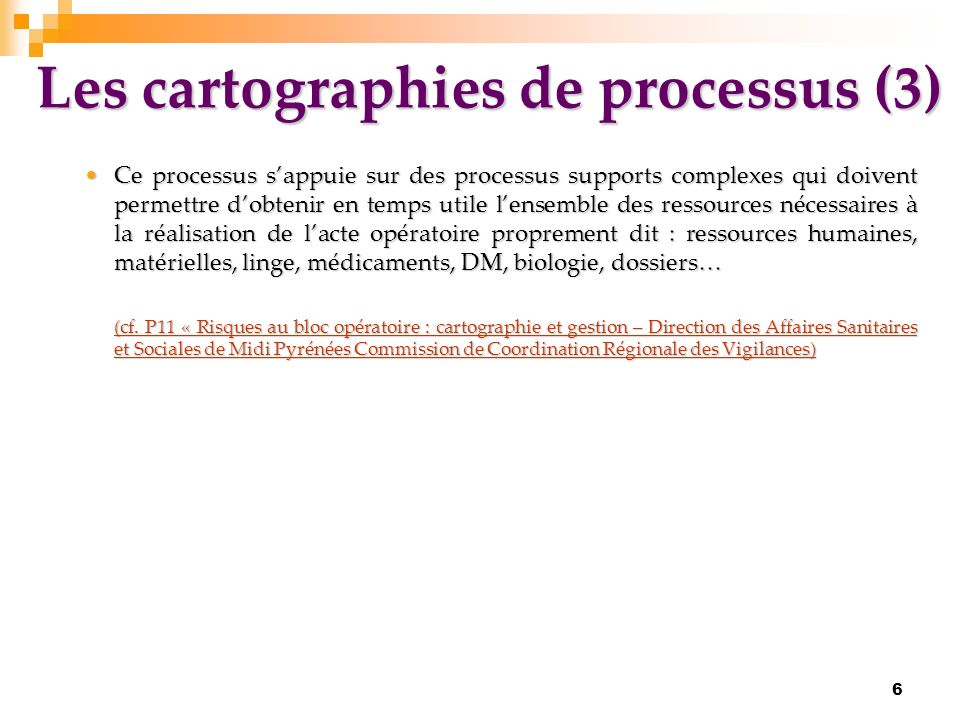 Les cartographies de processus (3)