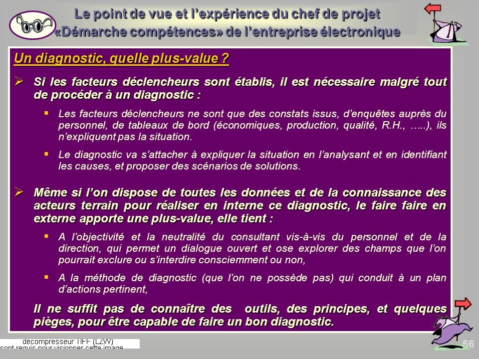 Un diagnostic, quelle plus-value