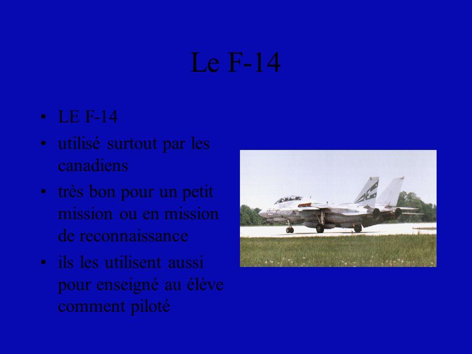 Le F-14 LE F-14 utilisé surtout par les canadiens
