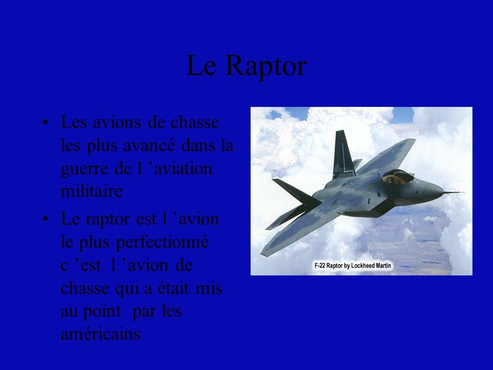Le Raptor Les avions de chasse les plus avancé dans la guerre de l 'aviation militaire.