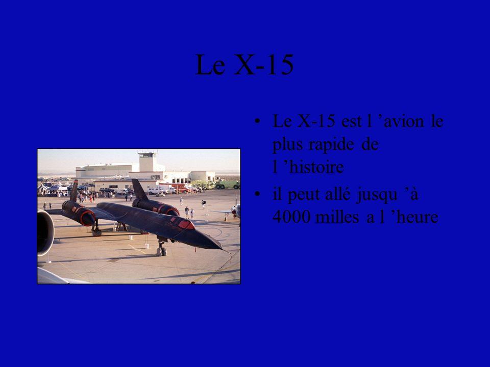 Le X-15 Le X-15 est l 'avion le plus rapide de l 'histoire