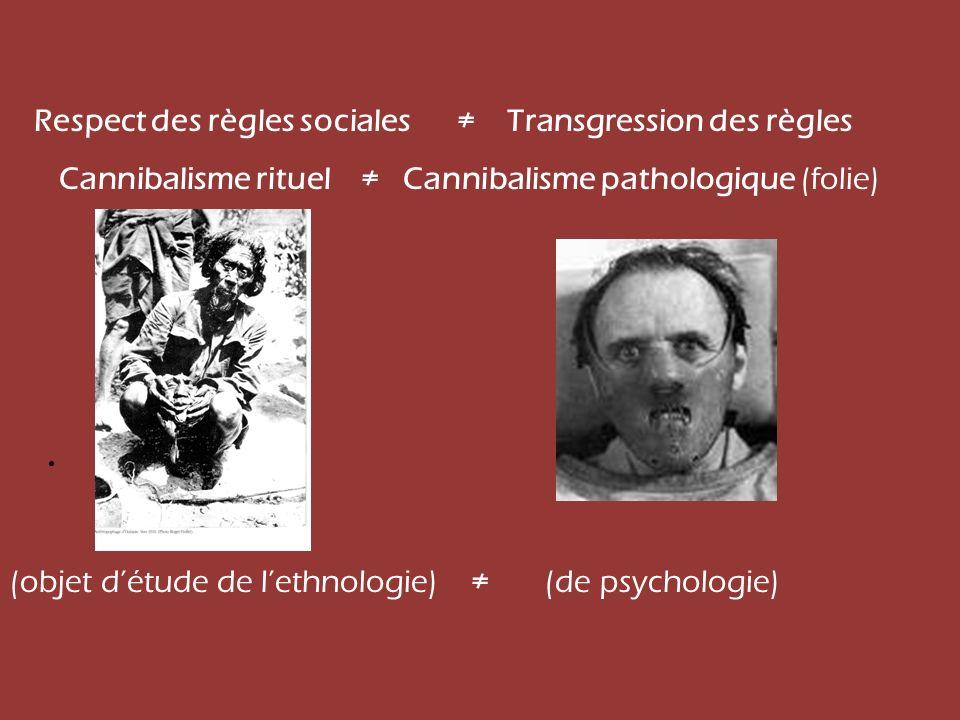 Respect des règles sociales ≠ Transgression des règles