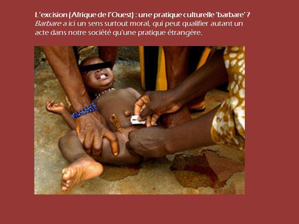 L'excision (Afrique de l'Ouest) : une pratique culturelle 'barbare'