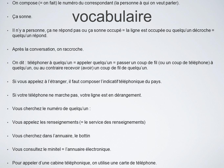 vocabulaireAvec le téléphone sans fil, on peut se promener partout dans la maison.
