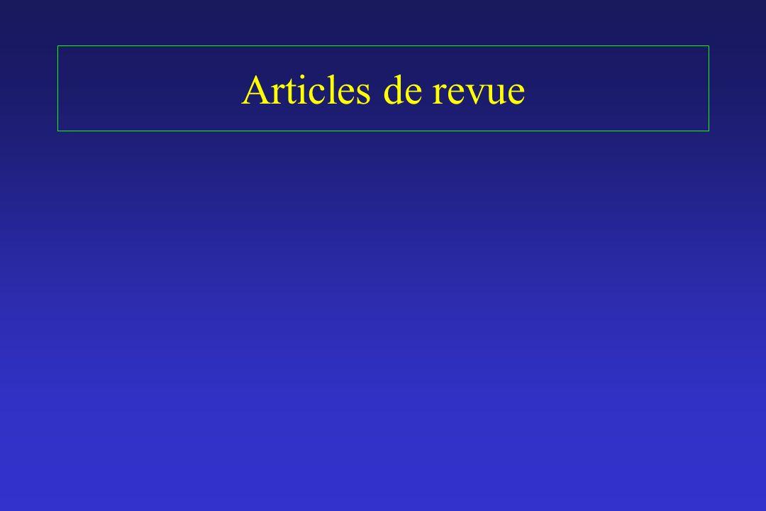 Articles de revue