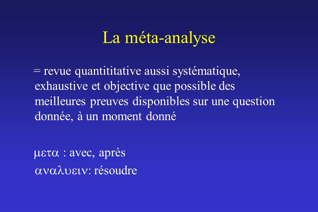 La méta-analyse