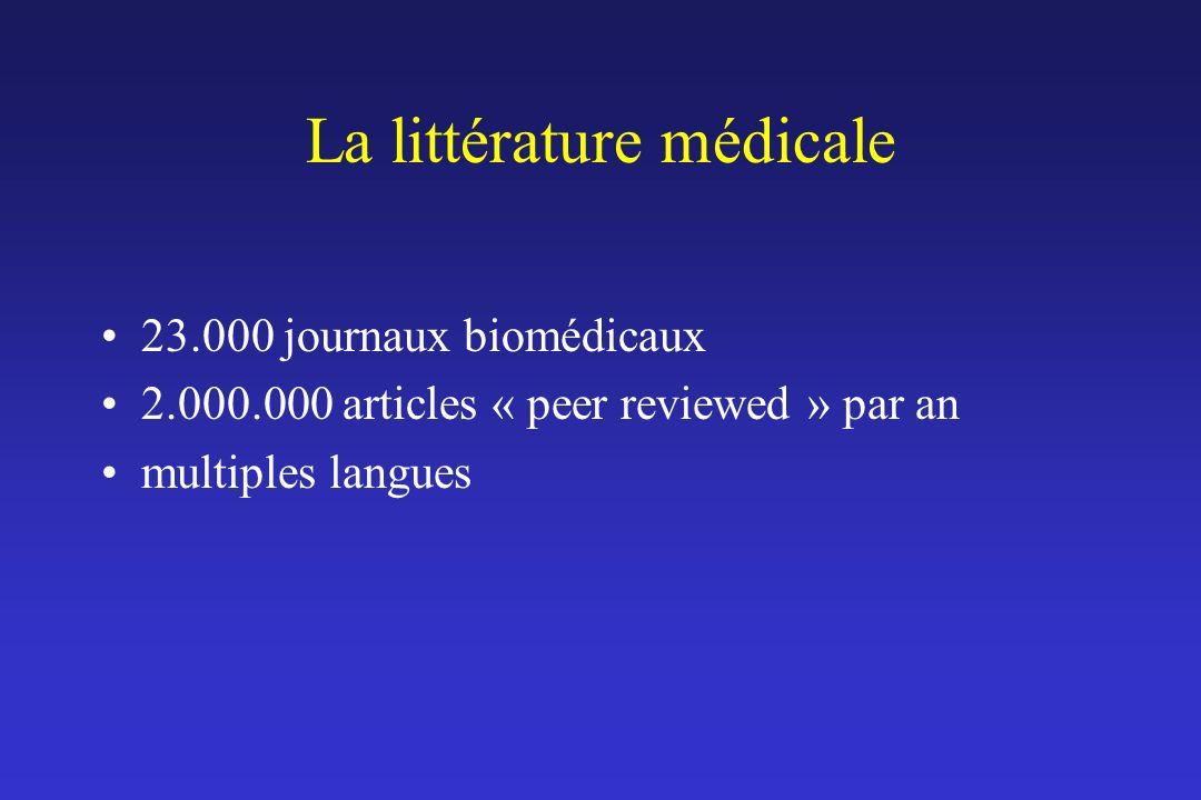 La littérature médicale