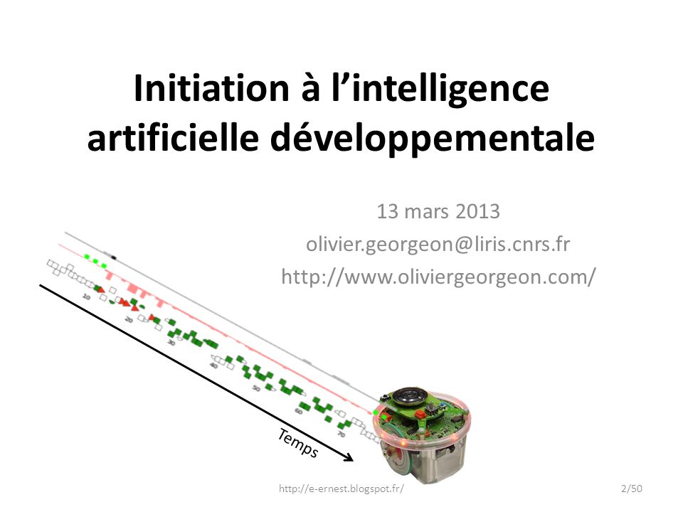 Initiation à l'intelligence artificielle développementale