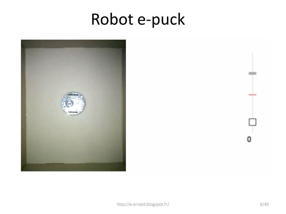 Robot e-puck http://e-ernest.blogspot.fr/