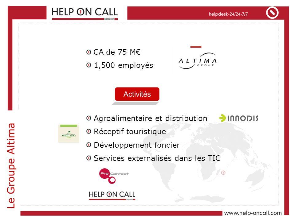 Le Groupe Altima CA de 75 M€ 1,500 employés
