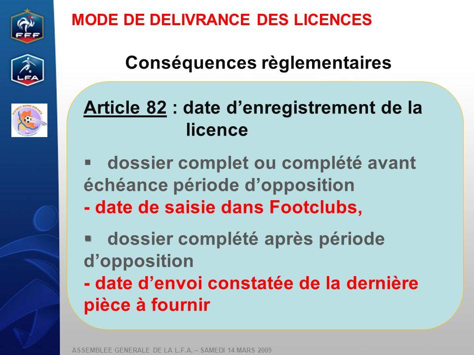 Conséquences règlementaires
