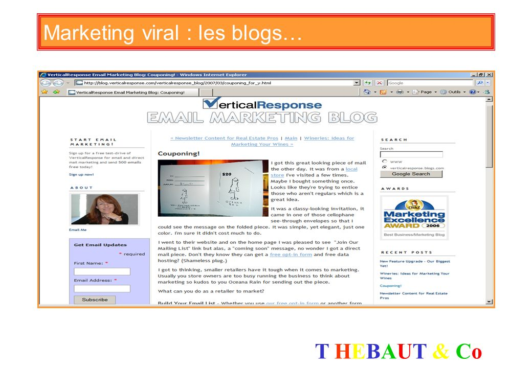 Marketing viral : les blogs…