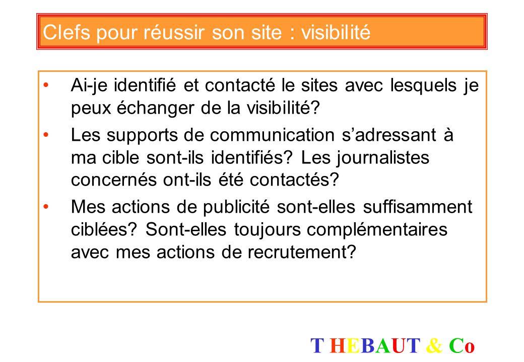 Clefs pour réussir son site : visibilité