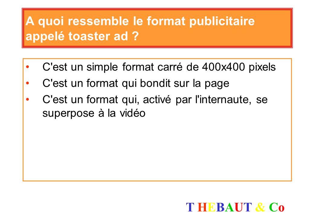 A quoi ressemble le format publicitaire appelé toaster ad