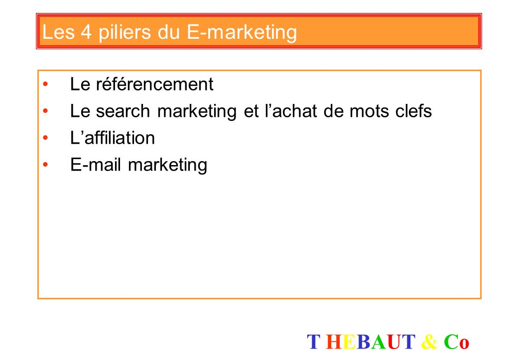 Les 4 piliers du E-marketing