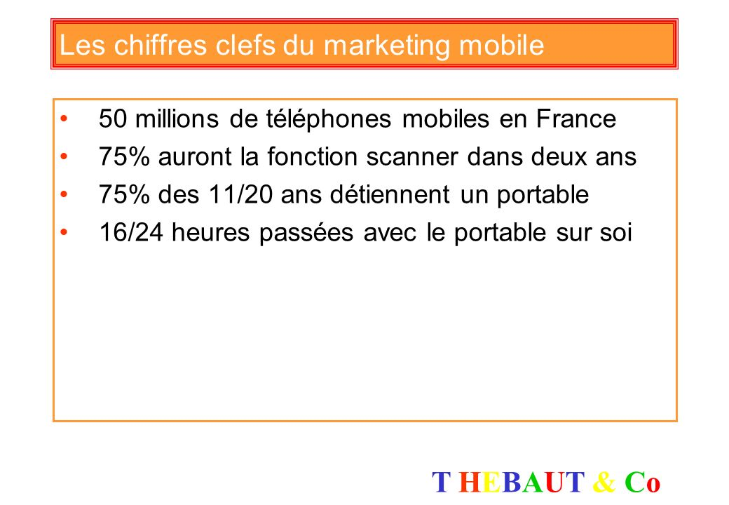 Les chiffres clefs du marketing mobile