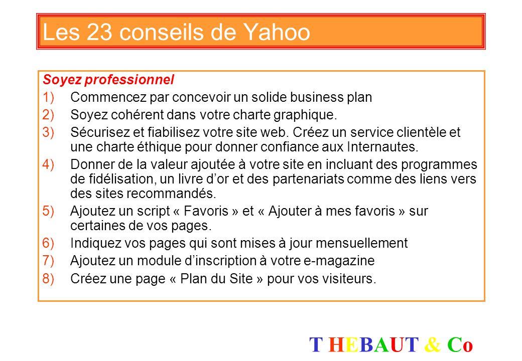 Les 23 conseils de Yahoo Soyez professionnel