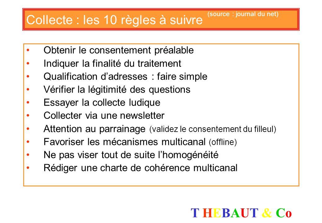 Collecte : les 10 règles à suivre (source : journal du net)