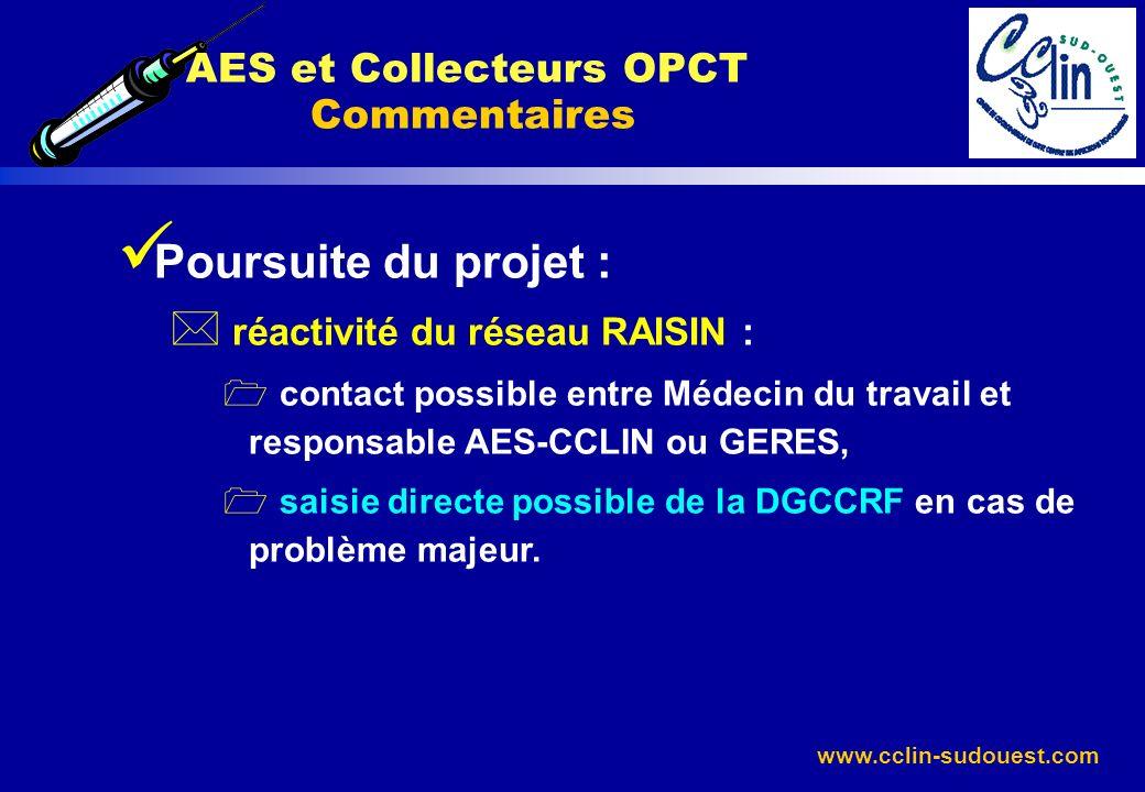 AES et Collecteurs OPCT Commentaires