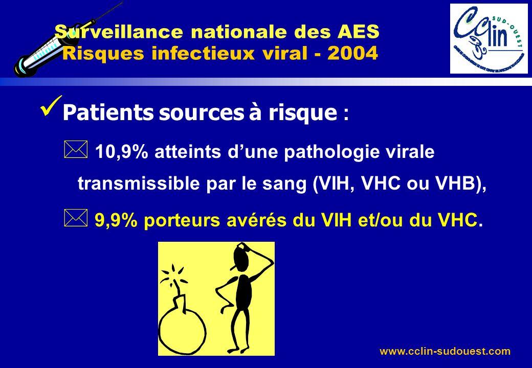 Surveillance nationale des AES Risques infectieux viral - 2004