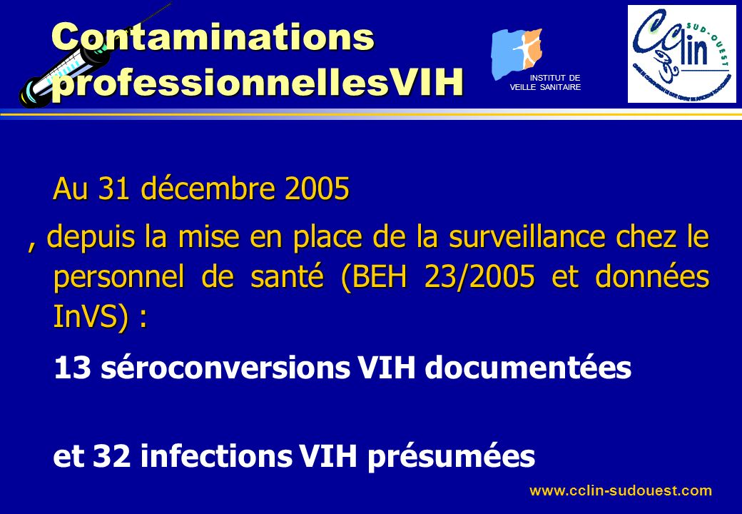 Contaminations professionnellesVIH