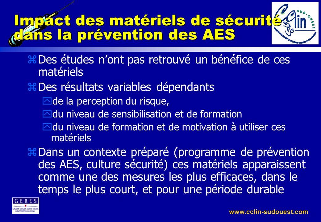 Impact des matériels de sécurité dans la prévention des AES