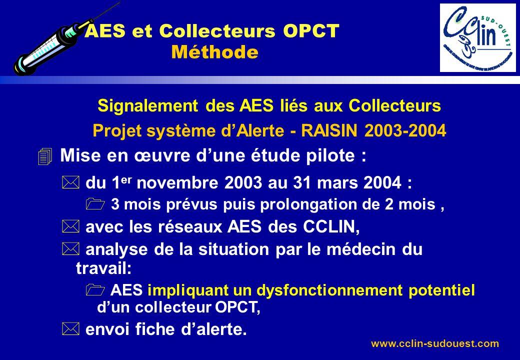 AES et Collecteurs OPCT Méthode