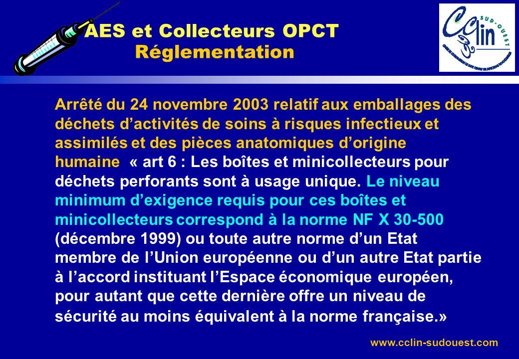 AES et Collecteurs OPCT Réglementation
