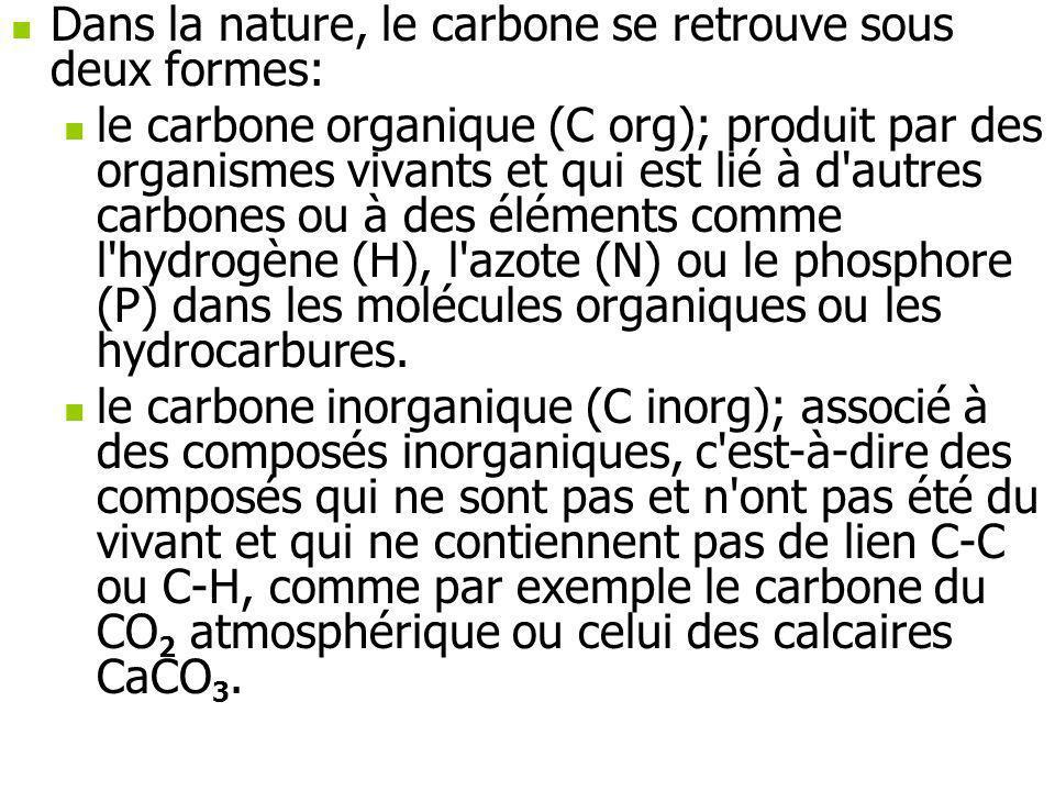 Dans la nature, le carbone se retrouve sous deux formes: