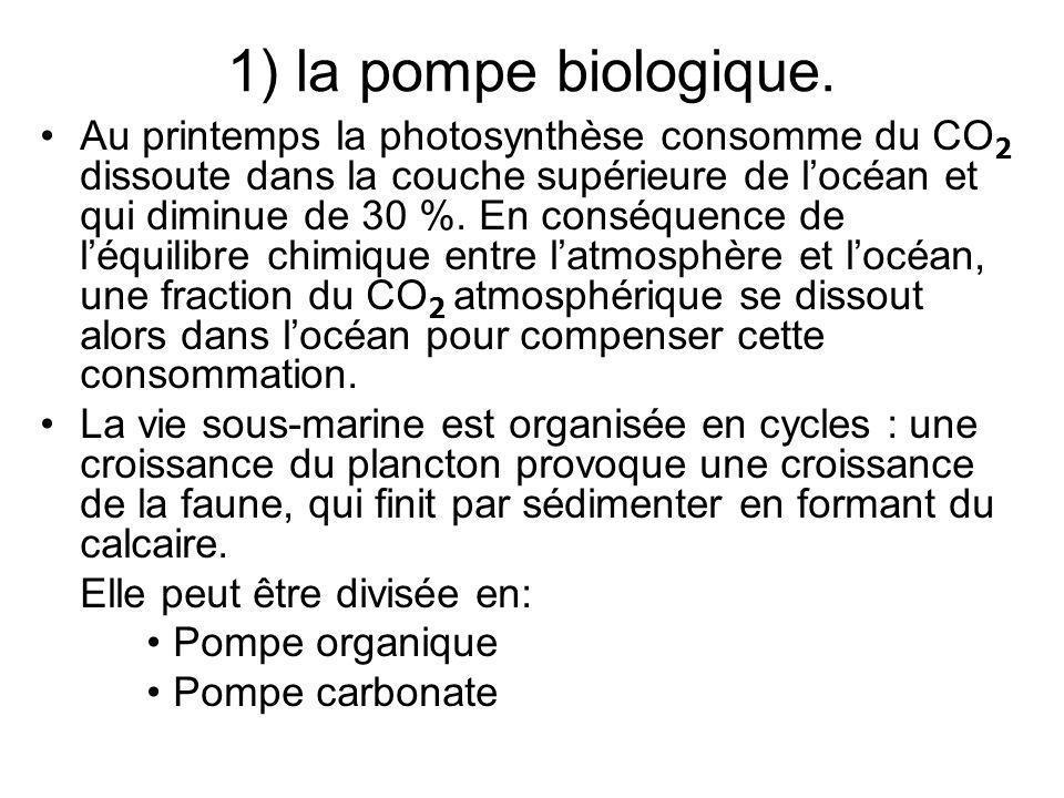 1) la pompe biologique.