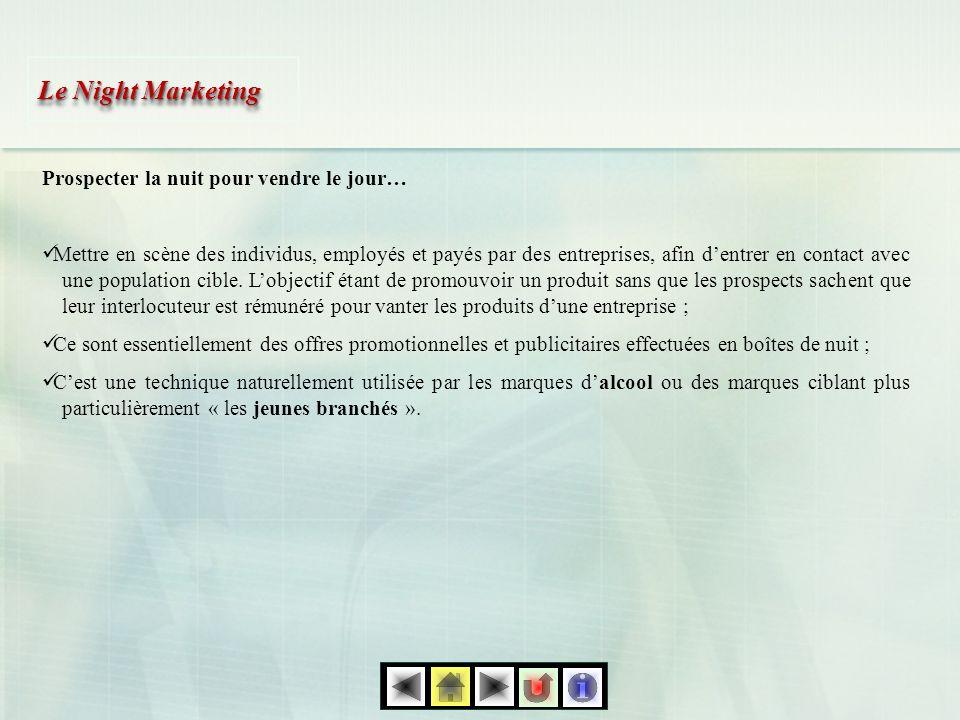 Le Night Marketing Prospecter la nuit pour vendre le jour…