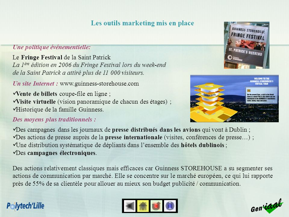 Les outils marketing mis en place