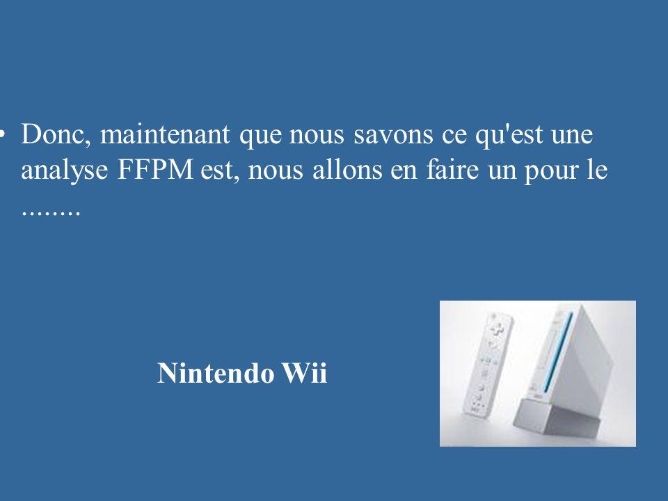 Donc, maintenant que nous savons ce qu est une analyse FFPM est, nous allons en faire un pour le ........